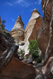 Tent Rock Hoodoos. View of hoodoos from canyon floor at Tent Rocks monument in New Mexico Stock Image