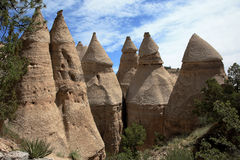 Tent Rocks. Close-up view of pointed rock formations in New Mexico royalty free stock photos