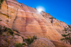 Tent Rocks Canyon at Sunrise Royalty Free Stock Photo