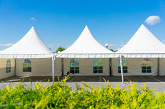 Tent row Stock Photography