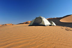 Tent in Rub al Khali Royalty Free Stock Image