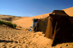 Tent in Sahara Desert Royalty Free Stock Images