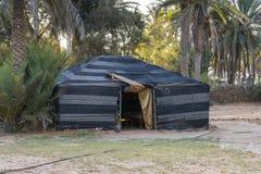 Tent in Sahara desert Stock Images