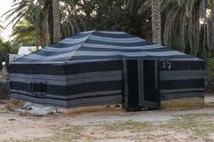 Tent in Sahara desert Royalty Free Stock Images