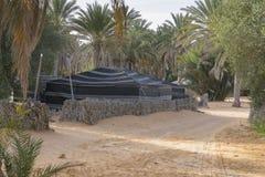 Tent in Sahara desert. Camp in Oasis on Sahara desert - berber tents. Tunisia , Africa stock photos