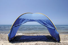Tent on sands Royalty Free Stock Photography