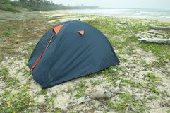 A tent by the sea Royalty Free Stock Image