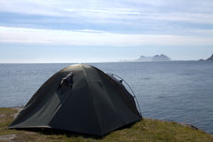 Tent by the sea Stock Image