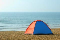 Tent on seashore Royalty Free Stock Photo