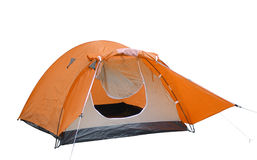 Tent. Series... Isolated camping tent over white background Stock Image