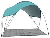 Tent. Series... Isolated camping tent over white background Royalty Free Stock Image