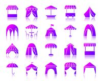 Free Tent Simple Gradient Icons Vector Set Stock Images - 124691524