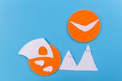 The tent stands on the background of high mountains royalty free stock image