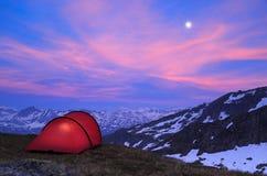 Tent after sunset Stock Photos
