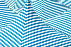 Tent surface Canvas blue and white contrast Stock Photo