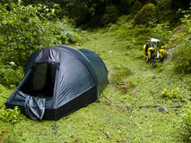 Tent in Swanetia Stock Photo