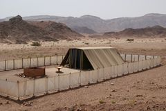 Tent of Tabernacles, Israel. Tent of Tabernacles in Timna Park, Israel Royalty Free Stock Photo