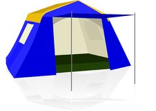 Tent for tourists Stock Photo