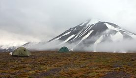 A Tent in Tundra in Svalbard Royalty Free Stock Image