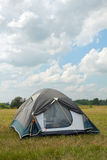 Tent under the dark blue sky Stock Images