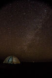 Tent under starry sky in Little Rann of Kutch Stock Photography