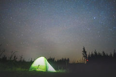 Tent Under the Stars Royalty Free Stock Image