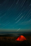 Tent under stars Royalty Free Stock Photos