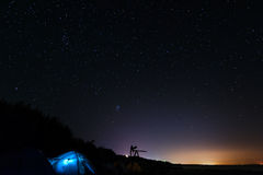 Tent under Stars Stock Photography