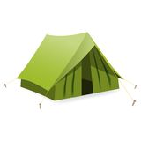 Tent. Vector illustration Stock Image