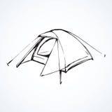 tent Vector tekening Stock Foto's