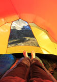 Tent view Royalty Free Stock Images