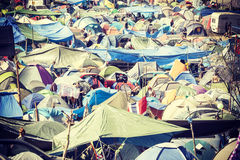 Tent village. Stock Images