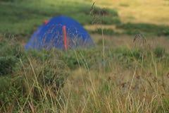 Tent/Wandeling in Karpatische bergenmening Royalty-vrije Stock Fotografie
