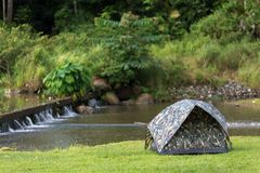 Tent in wild nature Stock Image