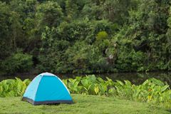 Tent in wild nature Royalty Free Stock Images