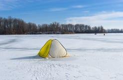 Tent of winter fisherman Royalty Free Stock Photo
