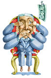 A tentação da corrupção ilustração royalty free
