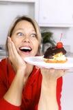 Tentação do bolo Fotos de Stock