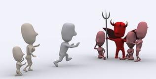 Tentação do diabo Fotos de Stock