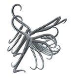 Tentacules en métal Images libres de droits