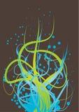 tentakel för blå green Stock Illustrationer