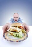 Tentação gordurosa Fotos de Stock Royalty Free