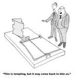 Tentation d'affaires illustration libre de droits