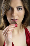 Tentation de chocolat Images libres de droits