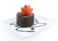 Tentation de chocolat et de fraise Image libre de droits