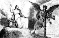 Tentation de Jesus Christ illustration de vecteur