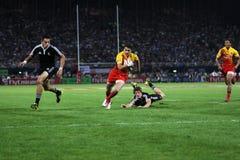 Tentativa da ação de Sevens do rugby Imagem de Stock Royalty Free
