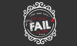 A tentativa e a falha, mas don a falha do ` t para tentar ilustração do vetor