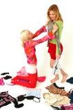 Tentativa no wardrobe 6 Foto de Stock