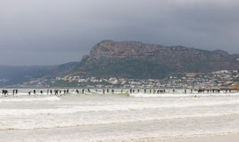 Tentative de record mondial de vague déferlante à Capetown Photographie stock